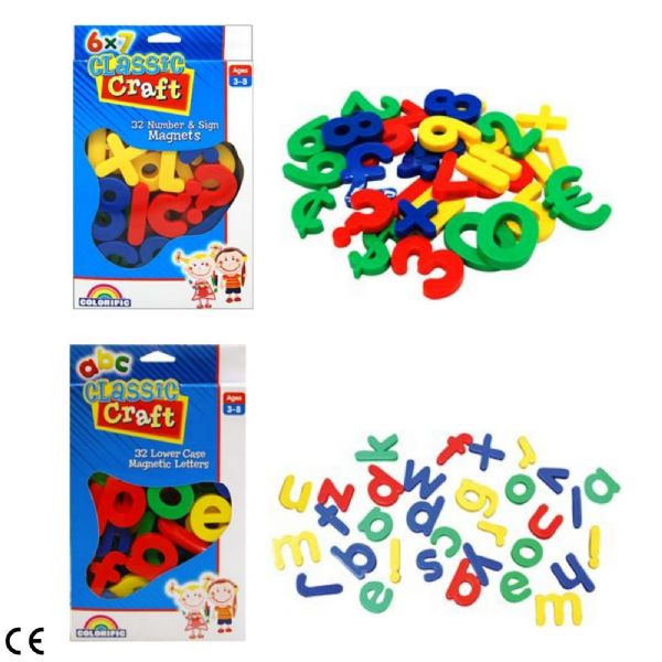 Colourific Classic Craft Magnetic Numbers & Sign or Lower Case Letters Ages 2-8